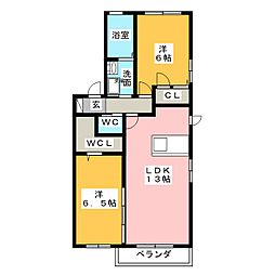 さくらアパートメント[1階]の間取り