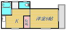 大川マンション[3階]の間取り