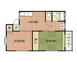 トータス総持寺[2階]の間取り