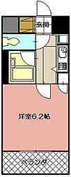 ギャラン黒崎[1101号室]の間取り