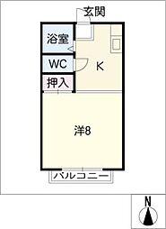 コーポ赤門[2階]の間取り