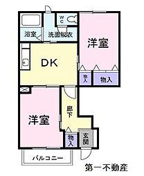 アメニティカスガ2[1階]の間取り