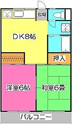レークヒル原田[2階]の間取り