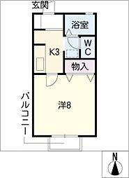 ヴィブレ城木[1階]の間取り