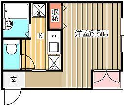 トムズケーハウス[1階]の間取り