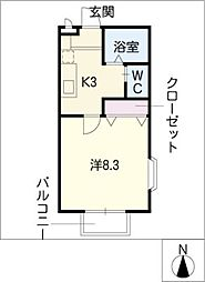 クレイドル[1階]の間取り