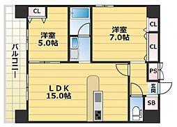 グランドゥーエ永和駅前[901号室号室]の間取り
