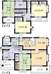[一戸建] 茨城県常総市中妻町 の賃貸【茨城県 / 常総市】の間取り