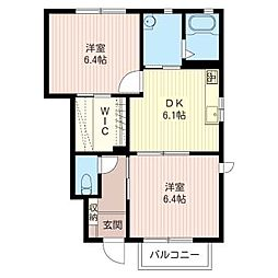 デルフィオーレB[1階]の間取り