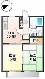 ドミール高橋 B[1階]の間取り