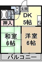 アメニティ醍醐[207号室号室]の間取り