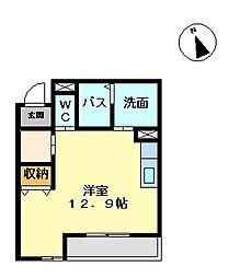 エステート房前[1階]の間取り