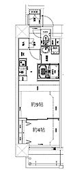 Osaka Metro堺筋線 天神橋筋六丁目駅 徒歩10分の賃貸マンション 5階1DKの間取り