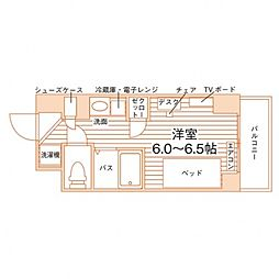(仮称)学生会館 Campus terrace Ikebuk 5階ワンルームの間取り