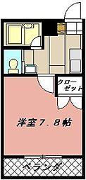 ヨークス本城[406号室]の間取り
