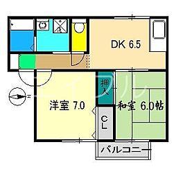 フラワーハイツ(大津)[1階]の間取り