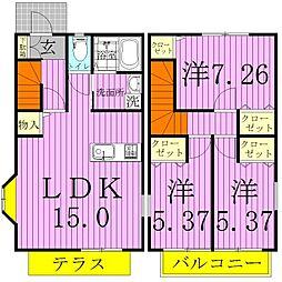 [一戸建] 千葉県松戸市秋山 の賃貸【/】の間取り