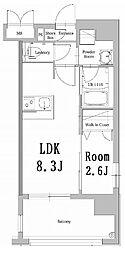 西鉄貝塚線 西鉄香椎駅 徒歩3分の賃貸マンション 3階1LDKの間取り