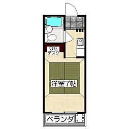 村岸マンション[3階]の間取り