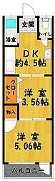 第五ヤマトコーポ[2階]の間取り