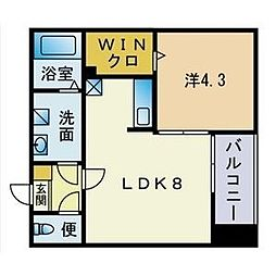 福岡県福岡市西区石丸2丁目の賃貸アパートの間取り