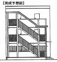 鷹匠町アパート1[2階]の外観