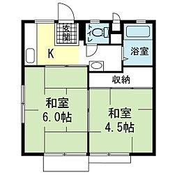 SハイツII[1階]の間取り