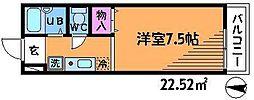 東京都調布市深大寺東町2丁目の賃貸アパートの間取り