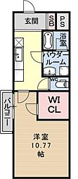 プラネシア星の子山科駅前[315号室号室]の間取り