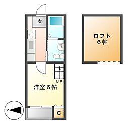 stage西新(ステージニシシン)[1階]の間取り