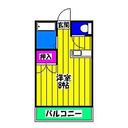 ヌーベル笹原[2階]の間取り