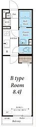 JR東海道本線 大船駅 徒歩13分の賃貸マンション 3階1Kの間取り
