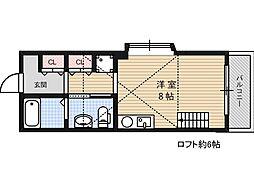 マンションK&M[3階]の間取り