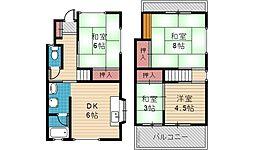 [一戸建] 兵庫県川西市東畦野5丁目 の賃貸【/】の間取り