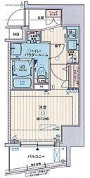EXE阿倍野(エグゼ) 13階1Kの間取り