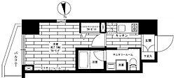 都営大江戸線 新御徒町駅 徒歩6分の賃貸マンション 4階1Kの間取り