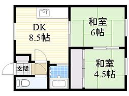第4豊田マンション[202号室]の間取り