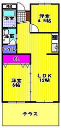 エステート1[103号室]の間取り