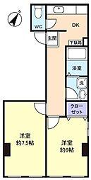 メイフラワーマンション[2階]の間取り