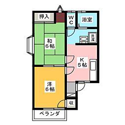 スマイルハウス2[2階]の間取り