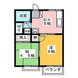 ソシアル1[2階]の間取り