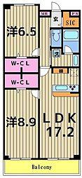 ロイヤルパークスシーサー[10階]の間取り