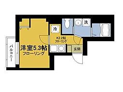 東京都台東区北上野1丁目の賃貸マンションの間取り