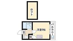 愛知県名古屋市瑞穂区宝田町6丁目の賃貸アパートの間取り