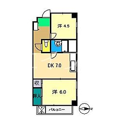 新堀ハイツIII[2階]の間取り