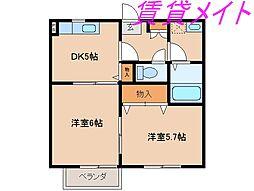 ロマン樹[1階]の間取り