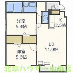 Pleasure MINAMI13JO(プレジャーミナミ13ジョウ)[4階]の間取り