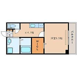 JR東海道本線 安倍川駅 徒歩3分の賃貸マンション 2階1Kの間取り