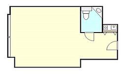 御堂アーバンライフ 6階ワンルームの間取り