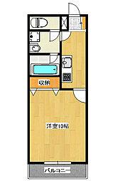 ロイヤル金信3[3階]の間取り